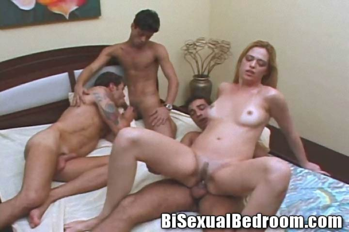 First time bisexual orgy