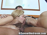 Bisexual Couple Sharing Cock
